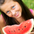 cute girl eating juicy watermelon stock photo © konradbak