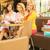 three attractive women in the shopping mall stock photo © konradbak
