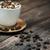 csésze · kávé · fahéj · öreg · palánk - stock fotó © konradbak