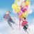criança · voador · balões · sonhos · viajar · fundo - foto stock © konradbak