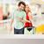 happy smiling couple in the mall stock photo © konradbak
