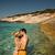 カップル · 愛 · 抱擁 · 青 · 海 · 休暇 - ストックフォト © konradbak