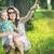 örvend · anya · fiú · valami · érdekes · anyu - stock fotó © konradbak