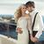 portré · fiatal · romantikus · házasság · pár · égbolt - stock fotó © konradbak