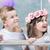 örömteli · gyerekek · kollázs · lány · fű · barátok - stock fotó © konradbak