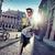 fiatalember · vár · randevú · város · divat · szépség - stock fotó © konradbak