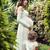 embarazadas · nina · verano · forestales · mirando · abdomen - foto stock © konradbak