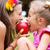 sweet red apple being bitten by sisters stock photo © konradbak