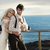 aranyos · fiatal · menyasszony · ölel · férj · jóképű - stock fotó © konradbak