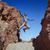 homem · corrida · deserto · montanhas · homem · bonito · esportes - foto stock © konradbak