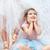 cute kid next to the ballet dancer sister stock photo © konradbak