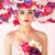 bella · bruna · signora · colorato · ghirlanda · testa - foto d'archivio © konradbak