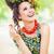 barna · hajú · szépség · pózol · paradicsom · nő · étel - stock fotó © konradbak