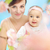 ziemlich · Mutter · cute · Kind · wenig · Frau - stock foto © konradbak