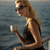 picture of surprised lady with cup of coffee stock photo © konradbak