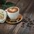 chaud · café · belle · blanche · rose · café - photo stock © konradbak