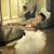 white ballet swan with the black one in the background stock photo © konradbak