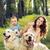 gyermek · játszik · anya · kutyák · boldog · nő - stock fotó © konradbak