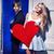 ridere · Coppia · data · matrimonio · amore · rosso - foto d'archivio © konradbak