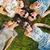 cztery · osoby · skoki · około · niebo · rodziny · człowiek - zdjęcia stock © konradbak