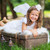 small cute angel resting on the suitcase stock photo © konradbak