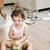 ağlayan · ev · bebek · oda · kız - stok fotoğraf © konradbak