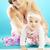 cute · kleines · Mädchen · Mutter · Frau · Baby - stock foto © konradbak