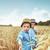 felice · giovani · fratelli · erba · ritratto · ragazza - foto d'archivio © konradbak