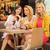 três · mulheres · jovens · primavera · sorrir · café - foto stock © konradbak