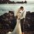портрет · молодые · морем · улыбка · свадьба - Сток-фото © konradbak