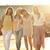 four joyful girlfriends on the walk stock photo © konradbak