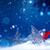 arte · Navidad · decoración · azul · nieve · vacaciones - foto stock © konstanttin