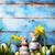 arte · coelhinho · da · páscoa · ovos · de · páscoa · flor · família · feliz - foto stock © konstanttin