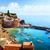 искусства · романтические · морской · пейзаж · Средиземное · море · Италия · старый · город - Сток-фото © konstanttin