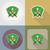 deporte · línea · iconos · verde · stock · vector - foto stock © konturvid