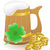 mag beer clover and coins st patricks day vector illustration stock photo © konturvid
