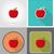 rohadt · zöld · alma · gyümölcs · levél · rajz - stock fotó © konturvid