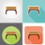 furniture set flat icons vector illustration stock photo © konturvid