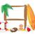 trópicos · tropical · objetos · isolado · branco · praia - foto stock © konturvid