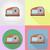 slicer household appliances for kitchen flat icons vector illus stock photo © konturvid