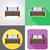 ベッド · 家具 · セット · アイコン · 孤立した · 白 - ストックフォト © konturvid