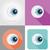 halloween eyeball flat icons vector illustration stock photo © konturvid