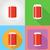 ingesteld · fast · food · iconen · kassier · verkoper · illustratie - stockfoto © konturvid