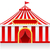cirque · tente · isolé · cadre · art · pavillon - photo stock © konturvid