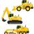 car equipment for road works vector illustration stock photo © konturvid