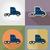 fret · camion · livraison · transport · carburant · icônes - photo stock © konturvid