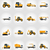 kotrógép · buldózer · ipari · gép · ikonok · vektor - stock fotó © konturvid