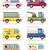 car icon set vector illustration stock photo © konturvid