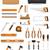 set tools icons vector illustration stock photo © konturvid
