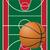 basketball court and ball stock photo © konturvid